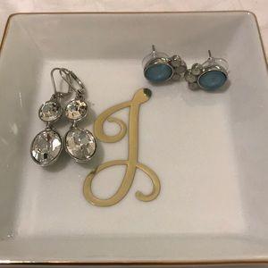 Jewelry - Rhinestone chandelier and studs